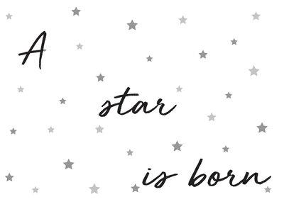 A star is born (Geboortekaart)