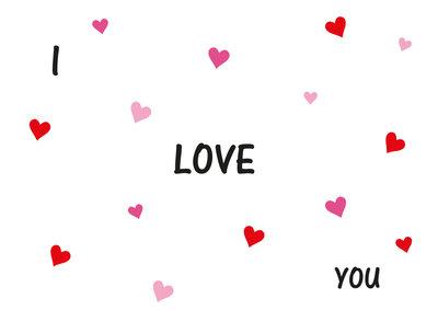 I love you Valentijnskaart